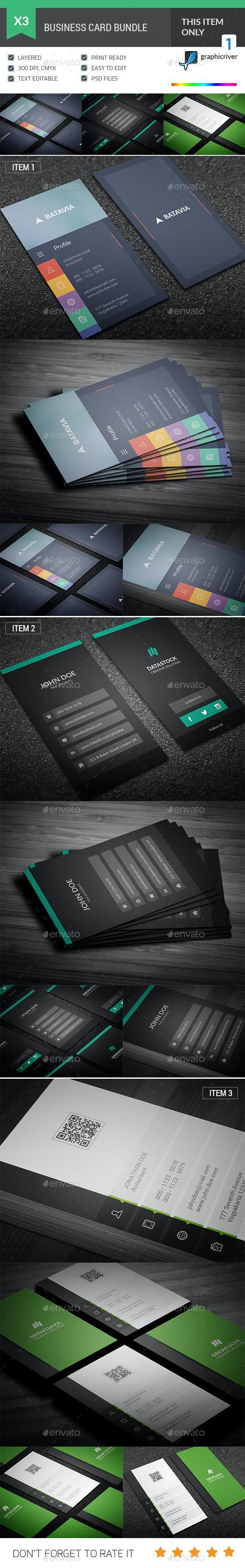 Flat Business Card Bundle - Corporate Business Cards