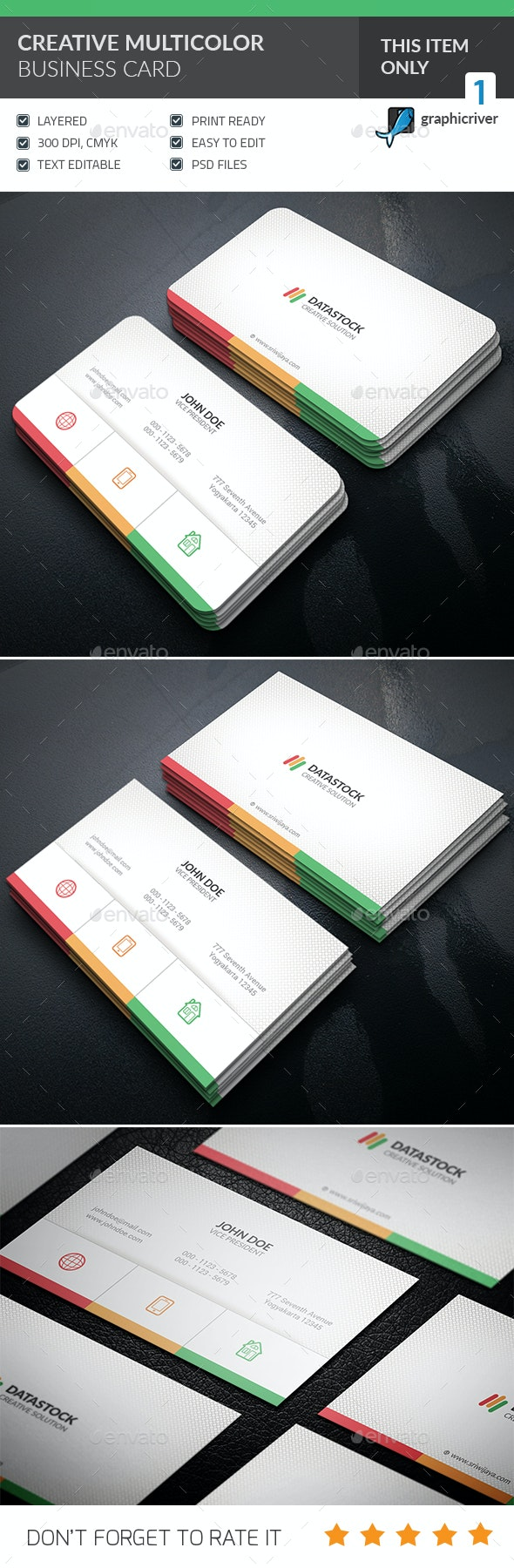 Multicolor Business Card - Corporate Business Cards