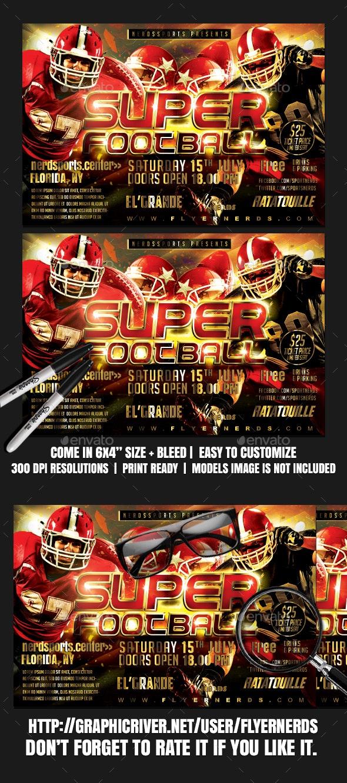 Super Sunday Football Sports Flyer - Sports Events