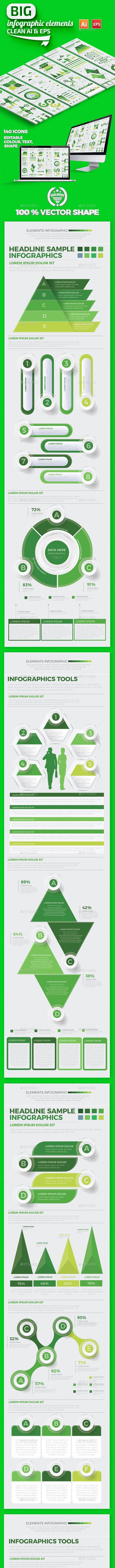 Big Green Infographics Design - Infographics