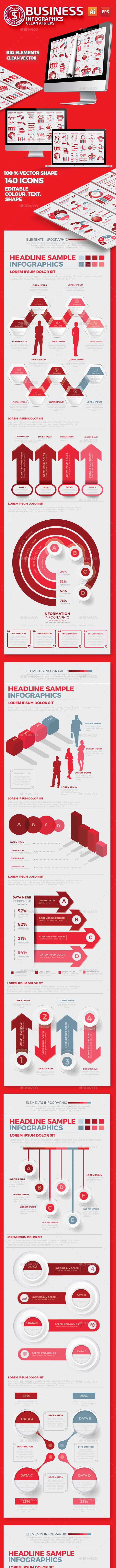 Red Business Infographics Design - Infographics