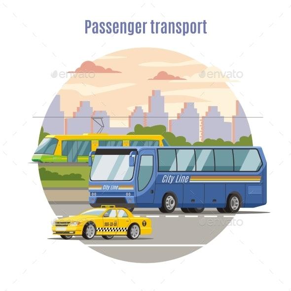 Urban Public Passenger Vehicles Template - Miscellaneous Vectors
