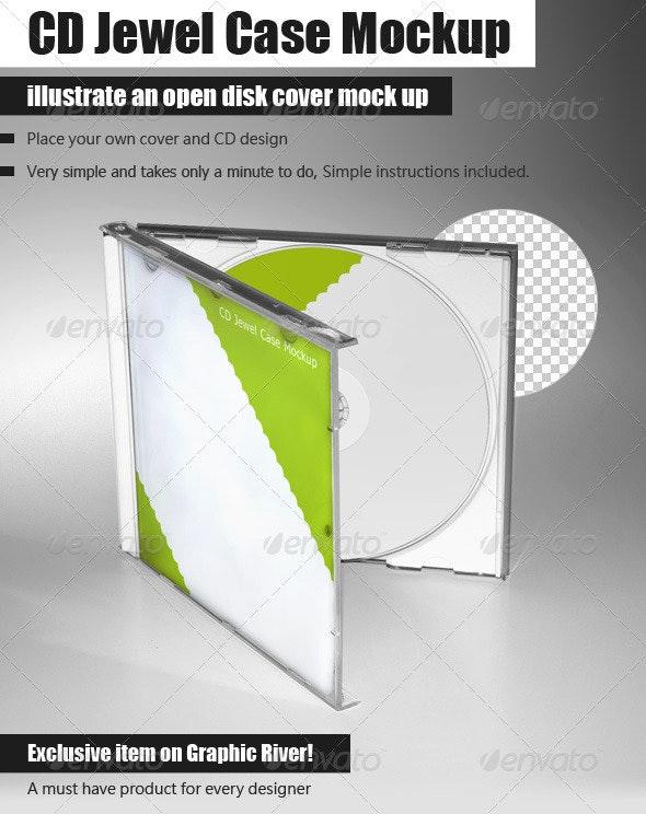 CD Jewel Case Mockup - Discs Packaging