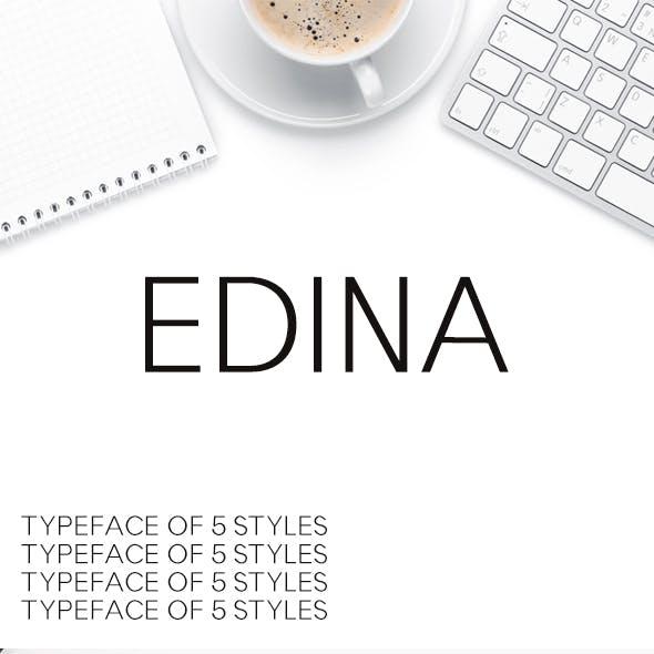 Edina Sans Serif Minimal Typeface