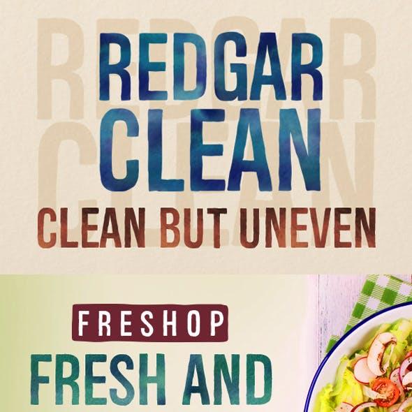 Redgar Clean font