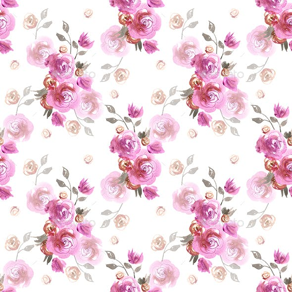 Pink Watercolor Pattern