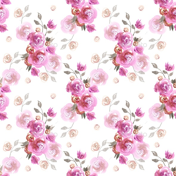 Pink Watercolor Pattern - Patterns Backgrounds