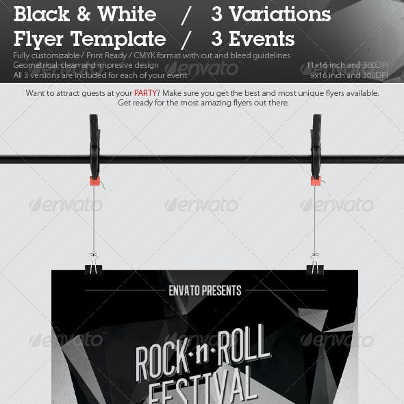 Black & White Flyer Template