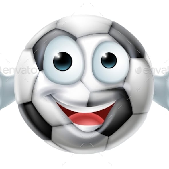 Cartoon Football Ball Man Character