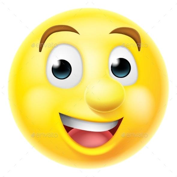 Happy Smiling Emoji Emoticon - People Characters