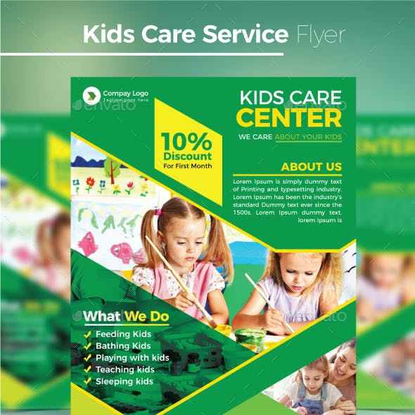 Kids Care Service Flyer