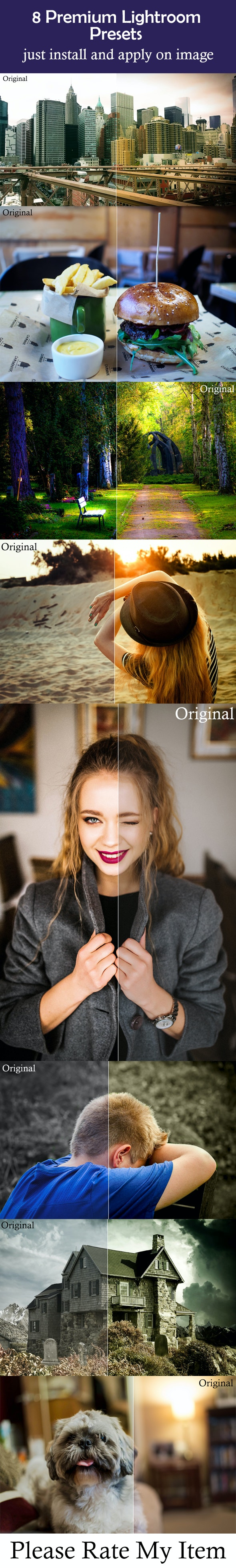 8 Premium Lightroom Presets - Lightroom Presets Add-ons