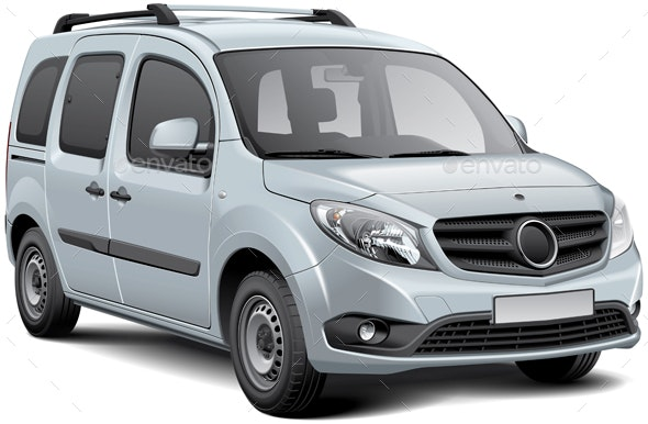 White Multi-purpose Vehicle - Vectors
