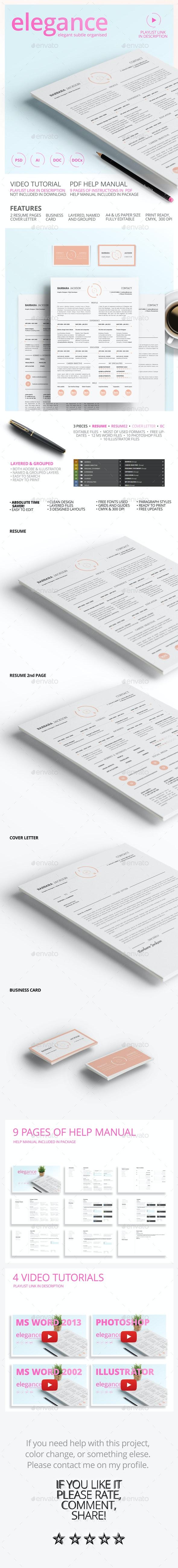 Elegant Style Resume and CV - Resumes Stationery