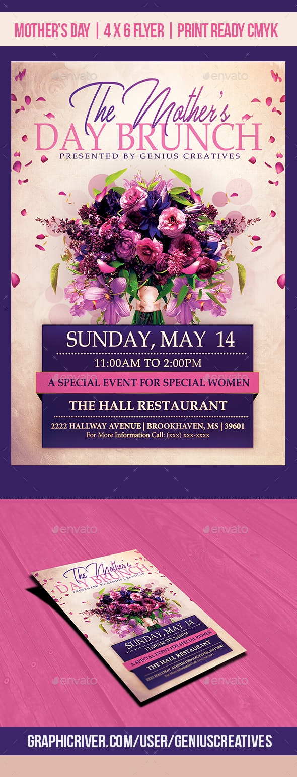 Mother's Day Brunch Event Template - Holidays Events