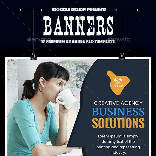 Multipurpose, Business, Corporate Banners Ads