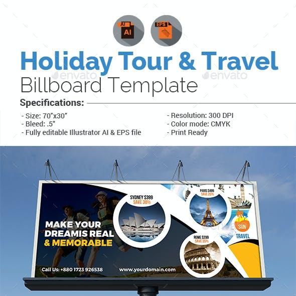 Holiday Tour & Travel Billboard
