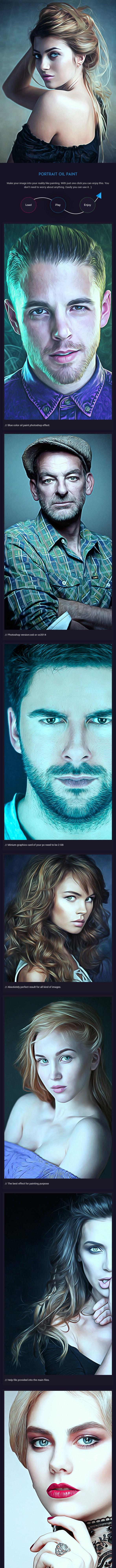 Portrait Oil Paint - Photo Effects Actions
