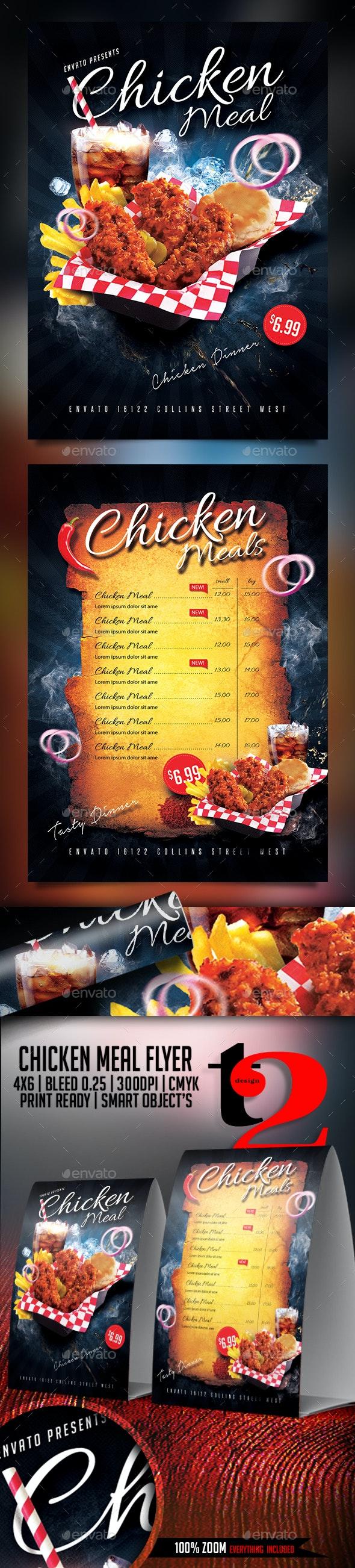 Chicken Meal Flyer Template - Restaurant Flyers
