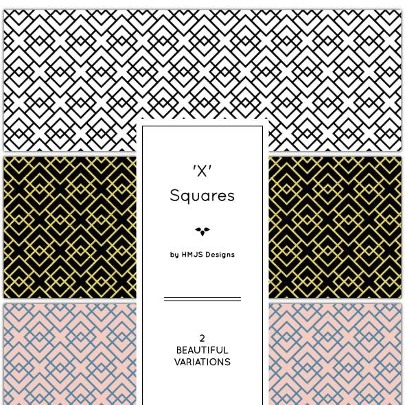 The 'x' Squares Pattern Set