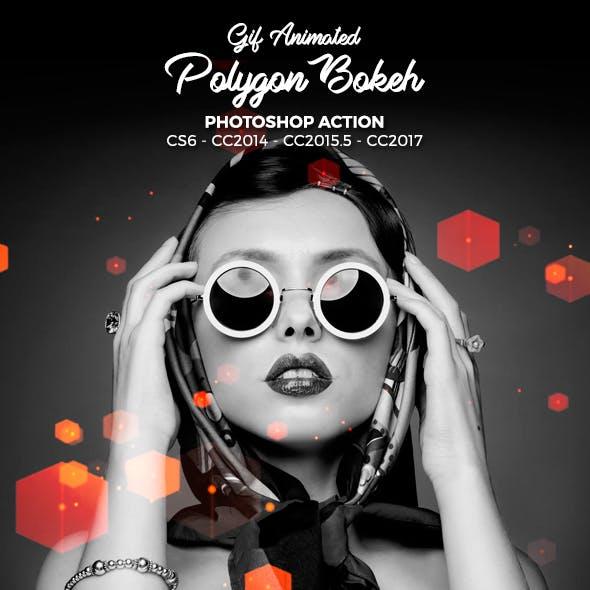 Gif Polygon Bokeh Photoshop Action