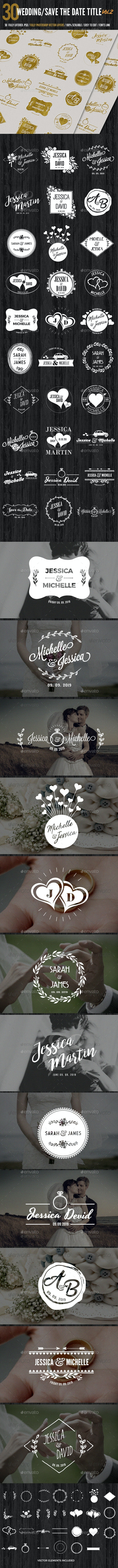 Wedding/Save the Date Titles/Typography Vol2 - Badges & Stickers Web Elements