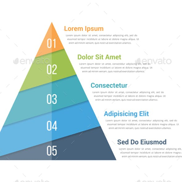 Pyramid Infographics with Five Elements