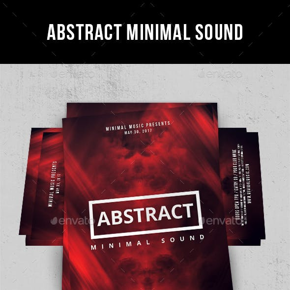 Abstract Minimal Sound - Flyer