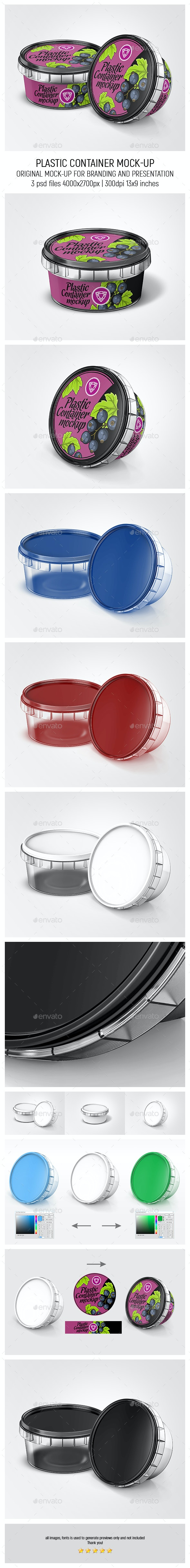 Plastic Container Mock-up - Food and Drink Packaging