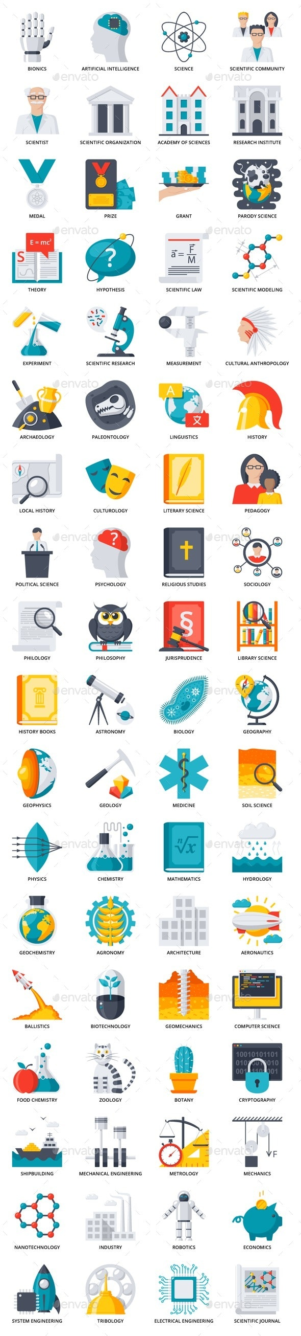 72 Science Icons - Technology Icons