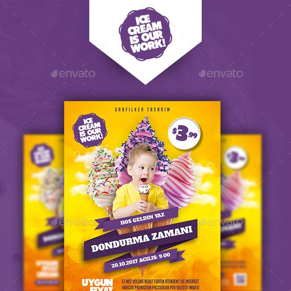 Ice Cream Flyer Templates