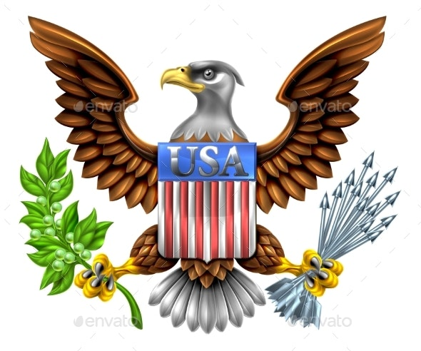 USA Eagle Shield Design - Miscellaneous Vectors