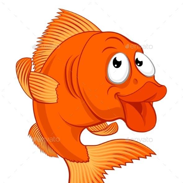 Cartoon Gold Fish or Gold Fish Character