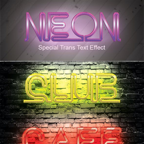 Neon Trans Special Text Effect