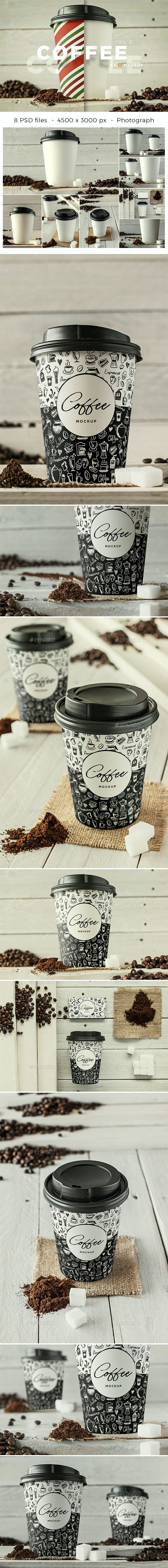 Coffee Branding Mockup - Vol 2. - Food and Drink Packaging