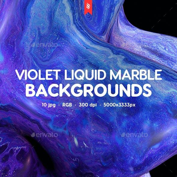 Violet Liquid Marble Backgrounds