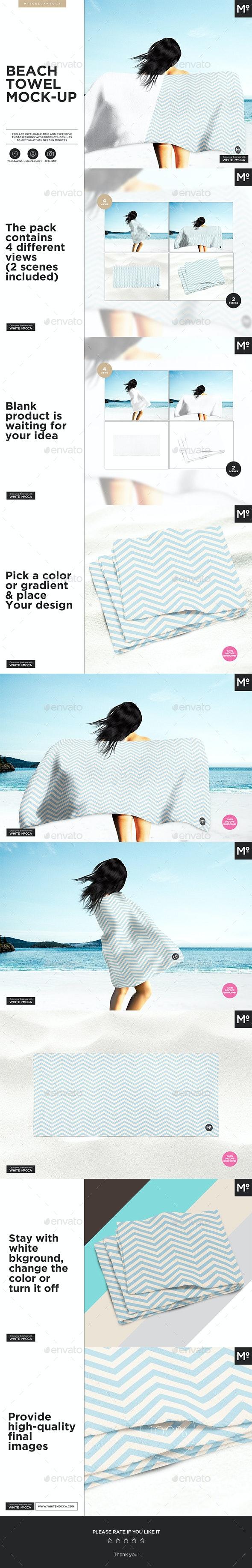 Beach Towel Mock-up - Miscellaneous Product Mock-Ups