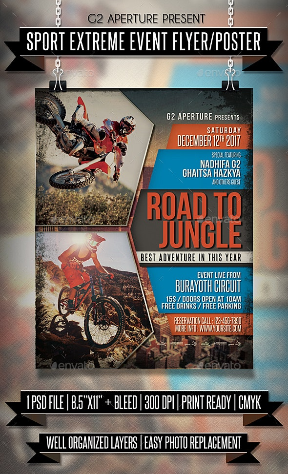 Sport Extreme Event Flyer / Poster - Events Flyers