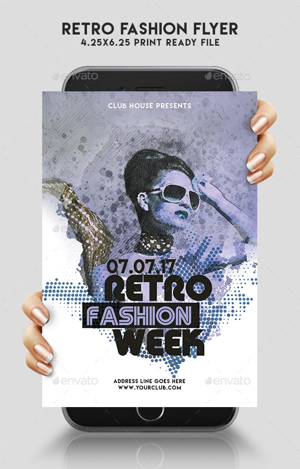 Retro Fashion Flyer - Clubs & Parties Events