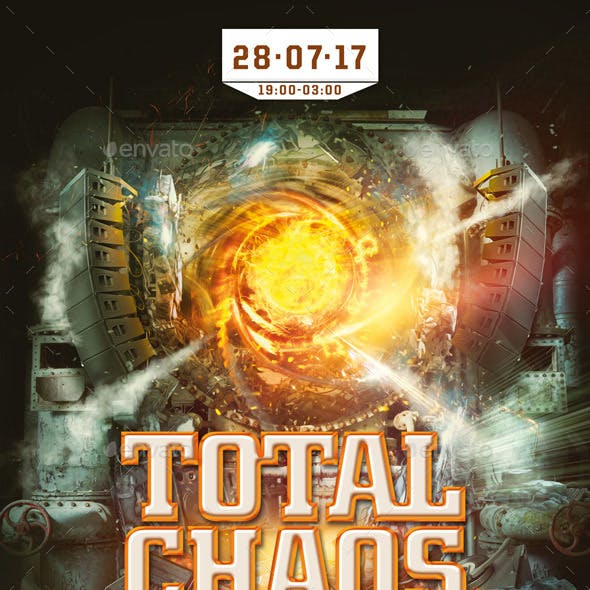 Total Chaos Music Flyer