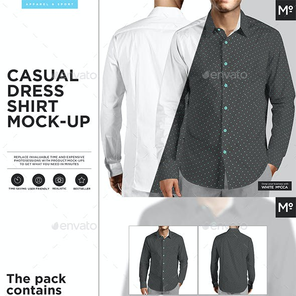 Casual Dress Shirt Mock-up