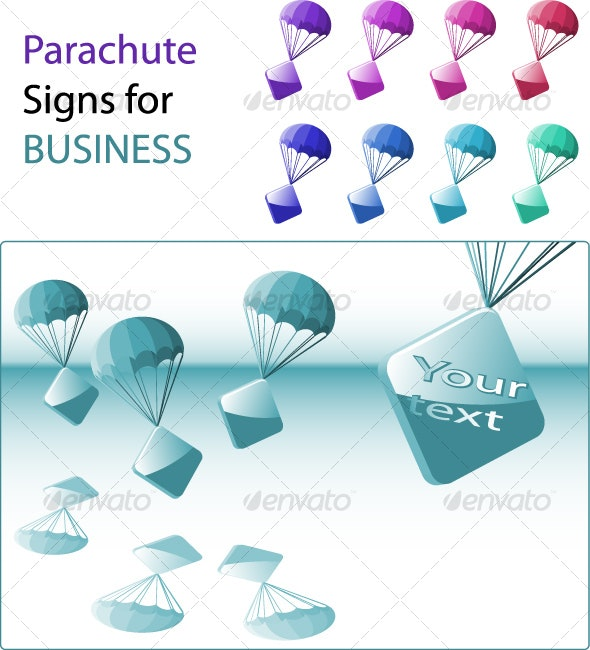 parachute business signs - Backgrounds Business