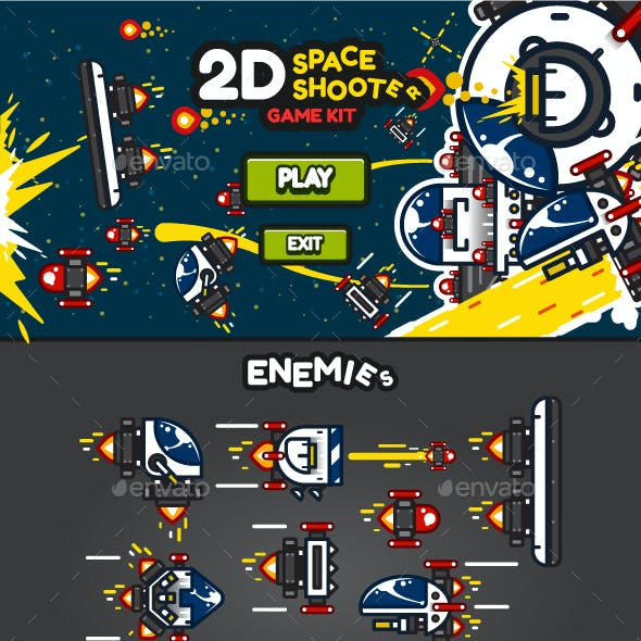 2D Space Shooter Game Kit