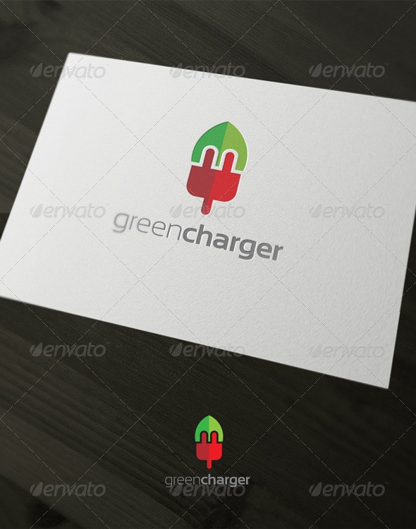 Green charger - Nature Logo Templates