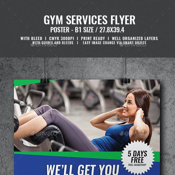 Gym Workout Services Poster