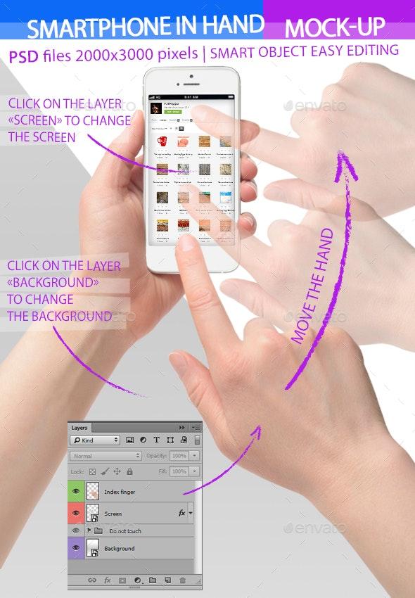 Smartphone in Hand Mock-up - Mobile Displays