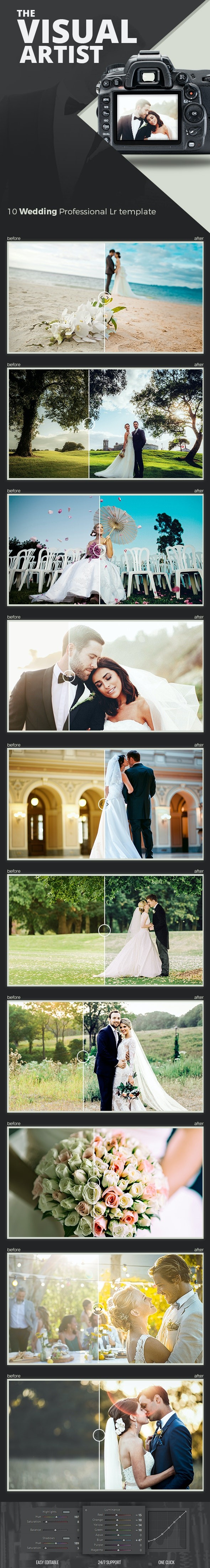 The Visual Artist Wedding Preset Series - Wedding Lightroom Presets