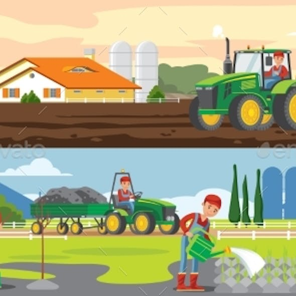 Farming And Agriculture Horizontal Banners