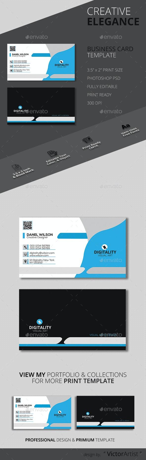 Modern Corporate Business Card Template - Corporate Business Cards