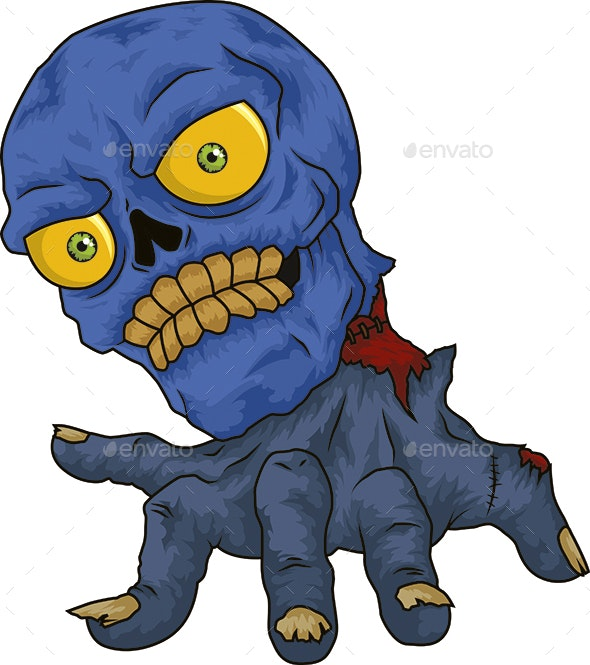 Blue Skull - Monsters Characters
